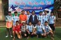 Hình ảnh đội bóng đá nam giáo viên tham gia giải bóng đá THPT năm 2018