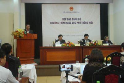 Bộ GD&ĐT chính thức công bố chương trình giáo dục phổ thông mới