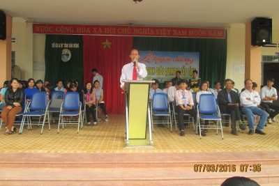 Lễ tuyên dương học sinh giỏi olympic 23-3 cấp Tỉnh năm 2016